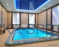 Натяжной потолок для бассейна