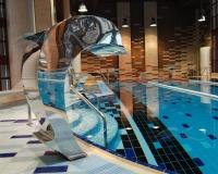 Водопад Дельфин для бассейна