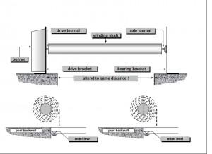 схема сматывающего устройства для бассейна